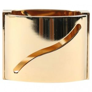 Elie Saab Gold Cut Out Cuff Bracelet
